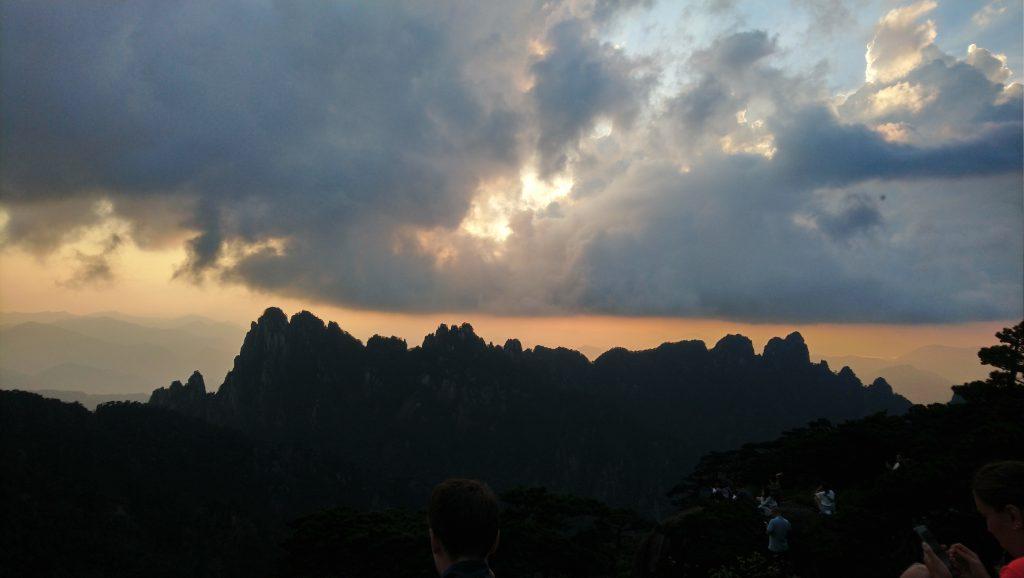 huangshan mountain sunset